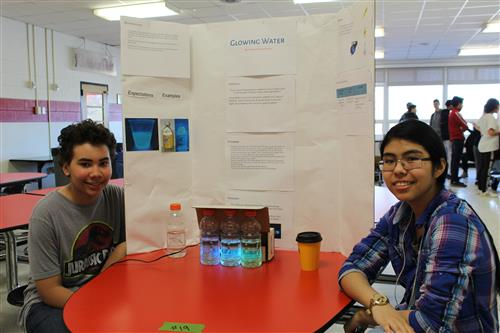 Students present at science fair