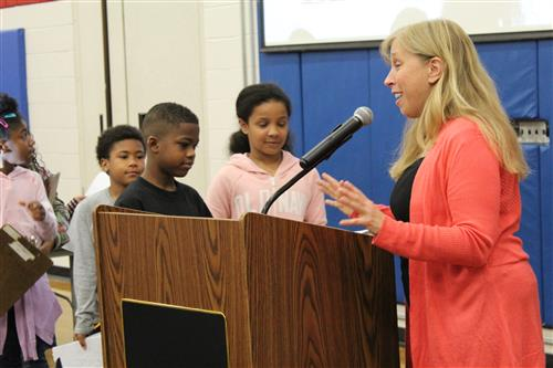 Author speaks to students