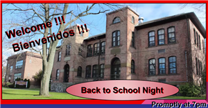 Welcome sign for the Carl L. Dixson Primary School Back to School Night