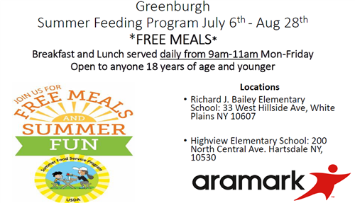 Summer Meal Distribution Flyer